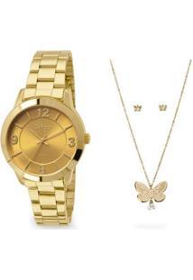 Relógio Condor Feminino Bracelete - Co2035Kop/K4D Co2035Kop/K4D - Feminino-Dourado