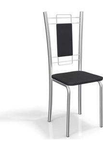 Cadeira Kappesberg Florença 4C005 (4 Uni) Cromada/Preto