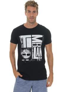 Camiseta Timberland City Logo Masculina - Masculino-Preto