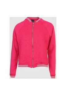 Jaqueta Bomber Enfim Matelassê Pink