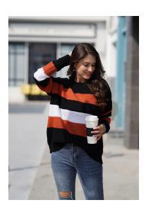 Blusa De Lã Bariloche Feminina - Laranja
