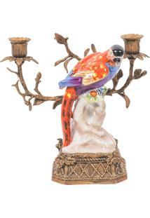 Castiçal Decorativo De Porcelana Le Petit Perle Ii