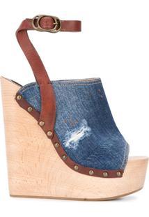 Dsquared2 Sandália Plataforma Jeans - Azul