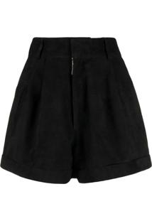 Manokhi High Waisted Shorts - Preto