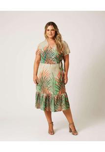 Vestido Midi Almaria Plus Size Ela Linda Estampado
