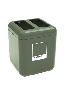 Porta-Sabonete Líquido Cube 8,5 X 8,5 X 15 Cm 330 Ml Verde Pantone Coza