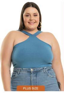 Body Halter Azul Miss Masy Plus