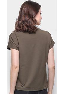 Camiseta Forum Básica Lisa Feminina - Feminino-Verde