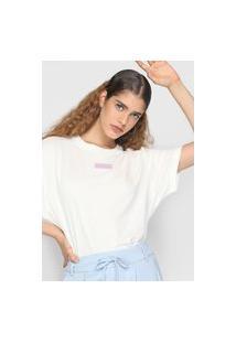 Camiseta Lacoste L!Ve Logo Off-White