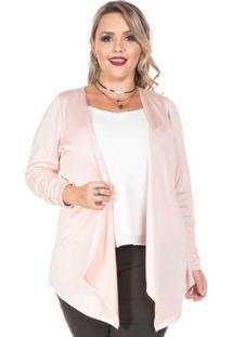 Cardigan Soft Pink Rosa Plus Size