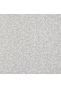 Papel De Parede Floral- Cinza Claro & Off White- 100Shark Metais