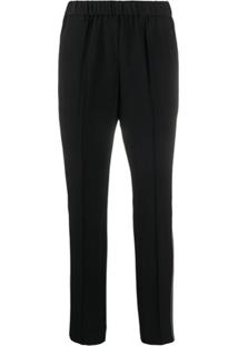 Calvin Klein Calça Reta Cropped - Preto