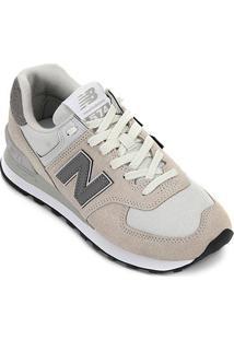 Tênis New Balance 574 Feminino - Feminino-Branco+Cinza