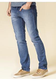 Calça Masculina Skinny Em Jeans Com Detalhe No Bolso