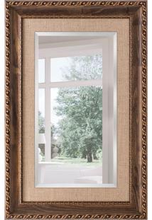 Espelho Decorativo Firenze 92X142 Cm Marrom