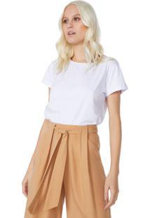 T-Shirt Amaro Cropped Sustentã¡Vel Branco - Branco - Feminino - Dafiti