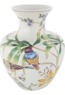 Vaso Bojudo De Cerâmica Coleção Tropicalia