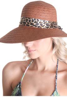 Chapéu Clássico Com Laço - Marrom - Líquido
