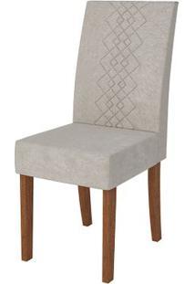 Cadeira Olímpia 2 Peças - Rústico Terrara Com Pena Bege