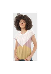 Blusa Cativa Geométrica Off-White/Rosa