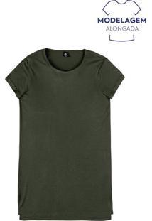 Blusa Feminina Básica Em Malha De Viscose E Modelagem Alongada