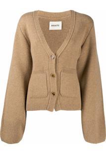 Khaite Cashmere Oversized Cardigan - Marrom