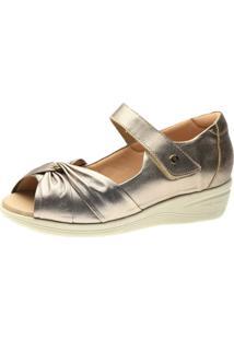 Sandalia Esporão Doctor Shoes 7878 Metalic