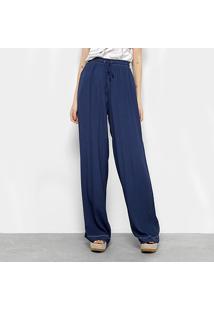 7c410ebc0 ... Calça Pantalona Forum Básica Cintura Alta Feminina - Feminino-Azul