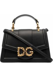 Dolce & Gabbana Bolsa Transversal Dg Amore - Preto