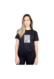 Camiseta Boutique Judith Pantone Tie Dye Preto