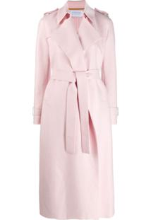 Harris Wharf London Trench Coat Com Amarração Na Cintura - Rosa
