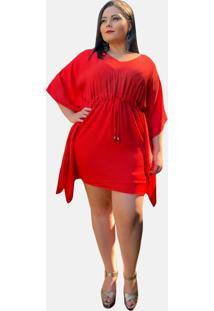 Vestido Curto Casual Tnm Collection Plus Size Social Festa Vermelho