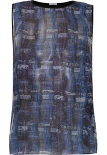 Tufi Duek Blusa De Seda Com Estampa - Azul