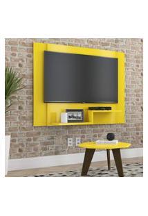 Painel Para Tv Enzo Plus 120X90 Cm - Amarelo - Rpm Móveis