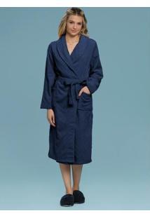Robe Adulto Feminino Azul