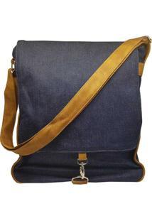 Bolsa Use Fast Estilo Carteiro Com Gancho Jeans - Unissex-Jeans