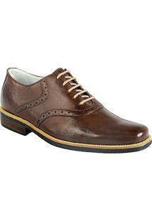 Sapato Social Masculino Oxford Sandro Moscoloni Massachussets Marrom