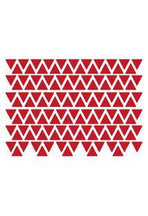 Adesivo De Parede Triângulos Vermelhos 121Un