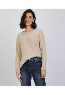 Suéter De Tricô Feminino Bege