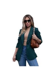 Blazer Max Neon Blush Coisas De Carolina Alfaiataria Verde Esmeralda