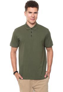 Camisa Polo John John Reta Leaf Verde