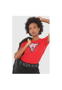 Camiseta Guess Logo Vermelha