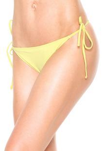 Calcinha Morena Rosa String Slim Amarela