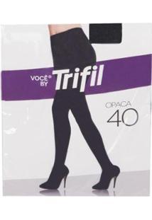 Meia Calça Trifil Opaca Fio 40 - Feminino-Preto