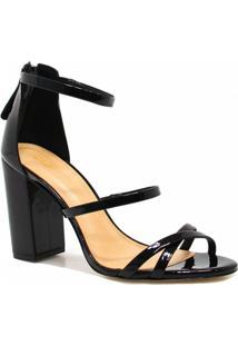 Sandália Zariff Shoes Salto Veniz - Feminino-Preto