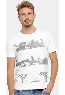 Camiseta Ellus Listras Floral Masculina - Masculino