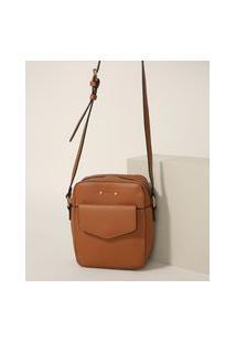 Bolsa Feminina Shoulder Bag Pequena Com Bolso Caramelo