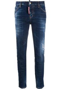 Dsquared2 Calça Jeans Skinny Com Efeito Destroyed - Azul