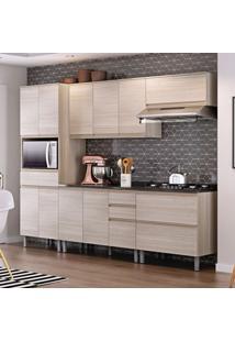 Cozinha Compacta Belíssima Plus 11 Pt 5 Gv Saara Wood E Granito Slate