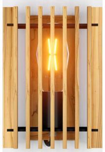 Arandela De Madeira Retangular Rústico Isadora Design Madeira